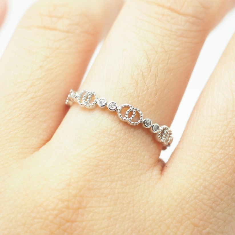 Unique Simple Engagement Rings Silver Simple R...