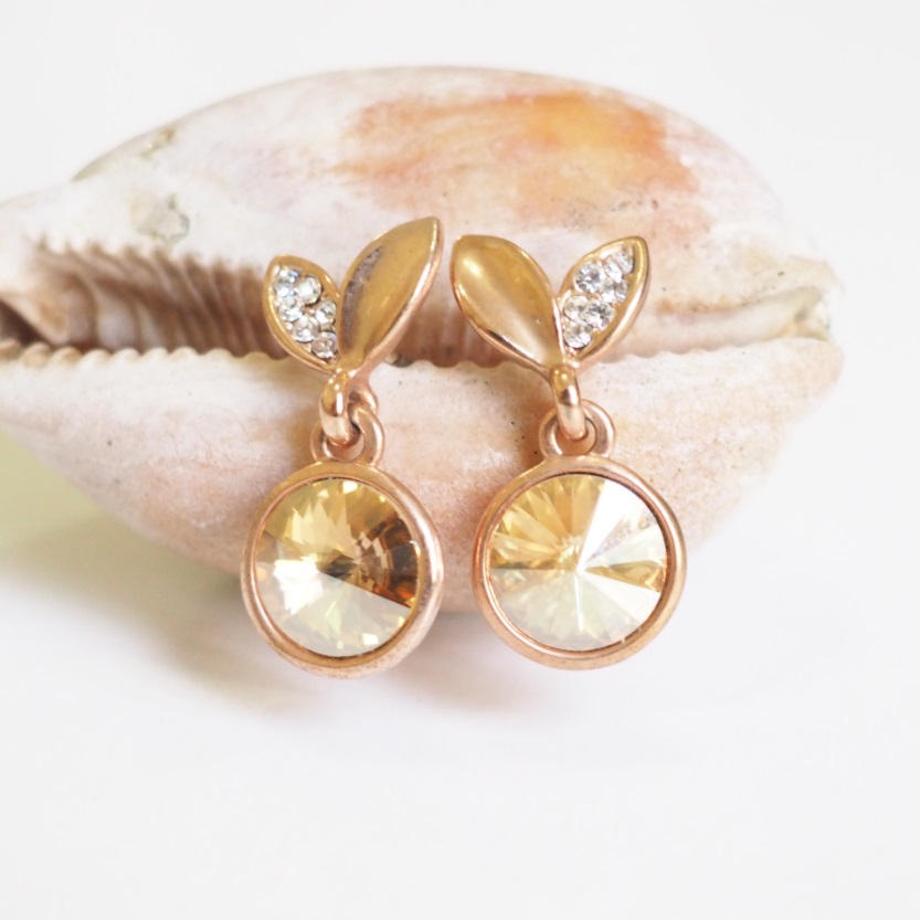 Gold Cherry Earrings, Vintage, Stylish Earrings, Simple ...
