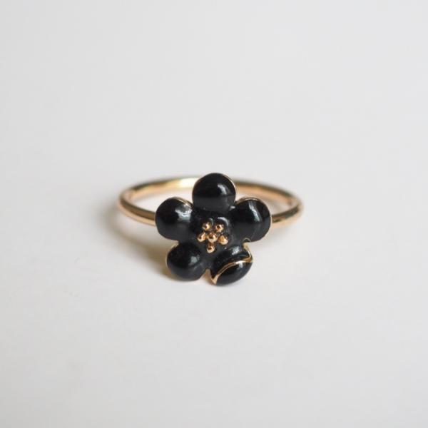 flower ring gold ring engagement ring friendship ring